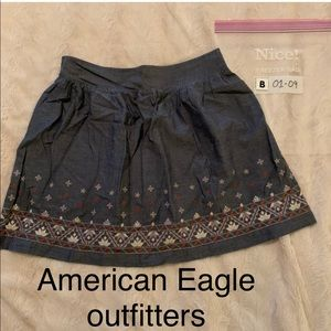 🤪3/$12🤪 American Eagle Outfitters M blue skirt